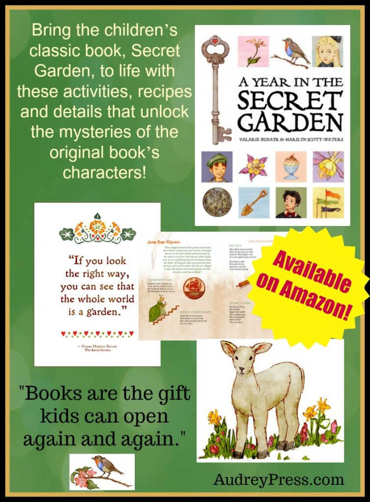 Bring the children's classic book, Secret Garden, to life with these activities, recipes and details that unlock the mysteries of the original book's characters!