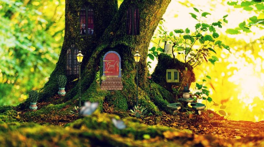 fairy houses and fairy gardens