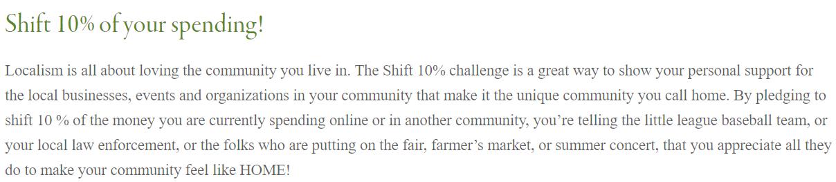 10% Shift Challenge